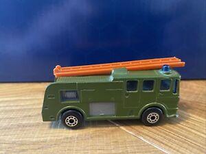Matchbox Superfast Merryweather Fire Engine  1969 (Green) Very rare