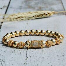 Luxury Charm Cubic Zirconia Ball Copper Bead Men Women Couple Bracelets Gift