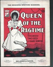 Queen of the Ragtime 1899 Large Format Sheet Music