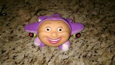 Tracy Purple Jay Jay The Jet Plane Pocket Finger Puppet Toy Plush w/Plastic Face