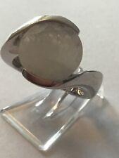 LLD La Luna weisser Mondstein Ring Gr. 17 925 Silber rhod.adularisierend Rarität