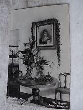 HI Hawaii The Queen Emma Museum w Flowers & Portrait RPPC Postcard