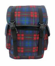 FUNKY TARTAN CHECK Laptop Backpack Rucksack School College Goth Rock Punk Bag
