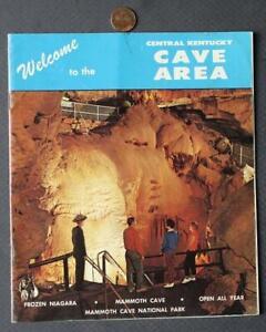 1960s Era Central Kentucky Cave Area brochure-Wigwam Village Motel-GREAT PHOTOS!