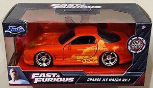 Jada Fast & Furious Orange JLS Mazda RX-7 1/32 die cast Car