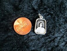 "Silver Alloy Picture Of Divine Child Jesus & St.Gerard Holding Cross! 3/4"" Light"