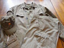Vintage East German Army Uniform-Trousers-Pants-Cap Rain Drop Cammo Size 48