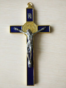 Christ Cross Crucifix Metal JESUS Catholic Statue Hanging Religious Wall Decor