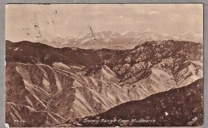 1929 P/C Airmail Snowy Range From Mussoorie Delhi To UK Flown Imperial Airways