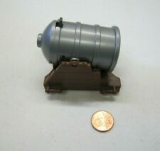 Playmobil SILVER CANNON with Brown Base PIRATE SHIP CASTLE Battle Weapon Part