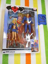 T6_13 DC Direct Lot SUPERMAN & SUPERGIRL 2 PACK W/ GRAPHIC NOVEL Superman/Batman