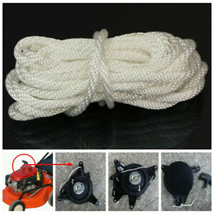 Nylon Pull Starter Recoil Start Cord Rope Chain For Most Lawnmower Multi Size