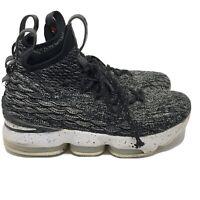 Nike LeBron XV Ashes Oreo GS 6Y Black White Basketball Youth Sz 6 Sneakers