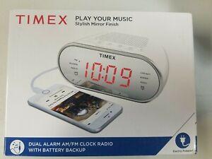 """Timex Am/FM Dual Alarm Clock Radio with Digital Tuning 1.2"""" Red LED Display a..."""