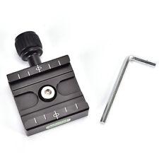 QR-50 Quick Release Plate Clamp Mount Compatib For Arca SWISS Tripod Ball Head*t