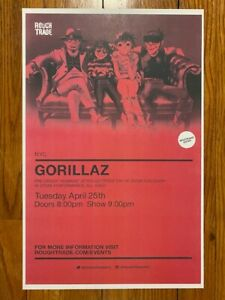 Gorillaz Rough Trade In-store Poster