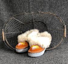 Womens Ladies Natural Leather Sheepskin Slippers Moccasins Size UK2,5/EU35