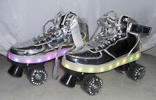 New Chrome Chicago Skates Pulse Rechargeable Light-Up Skates Silver Size 7 Men