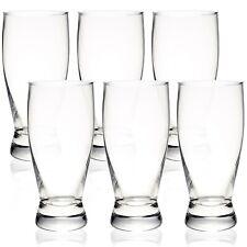 6 x Tulip Half Pint Beer Glasses Set 33cl/330ml Traditional Plain Beer Lager