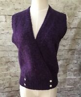 Robert Scott Ltd Purple Sweater Vest  Vintage Size 36-38 100% Wool