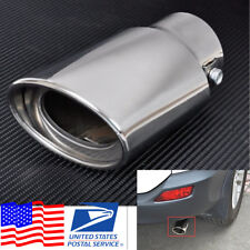 1x Chrome Stainless Steel Vehicle Car Rear Exhaust Pipe Tip Tail Throat Muffler