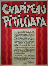"""""""Les 2 PITILLIATAS (Professeur MALADOLLI)"""" Affiche originale entoilée HARFORT"""