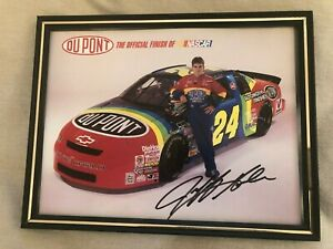 VINTAGE Jeff Gordon Autographed Signed 8 x 10 Photo Auto Racing DuPont