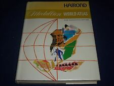 "1969 HAMMOND'S MEDALLION WORLD ATLAS - GREAT COLOR MAPS - 11.5"" X 15"" - KD 1915"