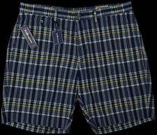 Men's POLO RALPH LAUREN Gray Grey Blue Madras Plaid Shorts 40 NWT NEW HOT!!!
