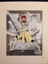 Star Wars - The Clone Wars - Obi Wan Kenobi - Hand Drawn & Hand Painted Cel