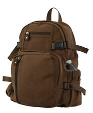 Rothco 9743 Vintage Canvas Mini Backpack - Brown