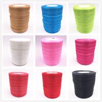 NEW 50 Yards 15mm Satin Edge Sheer Organza Ribbon Bow Craft U pick Colors