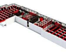 15,000 sqft Commercial Turnkey Trampoline Park Dodgeball Climb Ninja We Finance