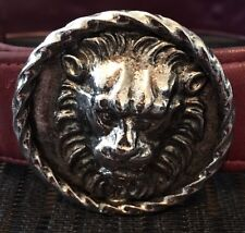 Signed Vintage L Kapsis Lion Belt Buckle