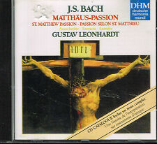 CD album: Bach: Matthäus passion. Gustav Leonhardt. BMG. C5