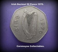 Irish Decimal 50 Pence Coin 1970.AH0143.