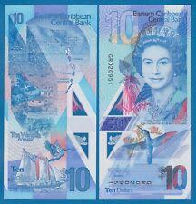 East Caribbean States 10 Dollars P New 2019 Polymer UNC QE II Queen Elizabeth