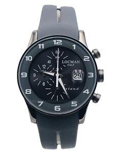Orologio Locman Island Chrono Gomma/titanio 40mm 620AAA/355 Scontatissimo Nuovo