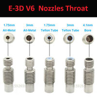 1.75/3/4.1mm Nozzle Thread Throat E3D-V6 Extruder HotEnd Pipe 3D Printer Repair