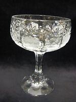 "Vintage Boheimian Cut Crystal Glass Stem Comport, 5 1/4"" Tall X 3 1/2"" Diameter"