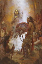 Howard Terpning TRANSFERRING THE MEDICINE SHIELD (38x58) giclee canvas A/P#14/15
