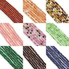 Size 4mm Faceted Round Semi-precious Gemstone Spacer Beads for Jewellery Making