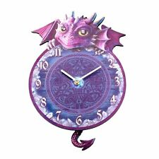 080d461068c Tickin  Animal Shaped Picture Wall Clock Swinging Tail Pendulum Battery  Operated