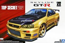 Aoshima 1/24 Scale Model Tuned Car Kit Top Secret Nissan Skyline GT-R R34 BNR34