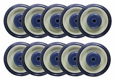 """5"""" x 1-1/4"""" Polyurethane Shopping Cart Wheel with Axles and Nuts (5/16"""") - 10 EA"""