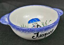 bol prénom JACQUES céramique JARD SUR MER par Claude Boutain rétro vintage