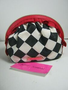 BETSEY JOHNSON Mini Ruffle Cosmetic Makeup Bag NWT Selected Color