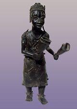 """African Benin Ife Yoruba Bronze Figure From Nigeria 30"""" Tall"""