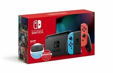 Nintendo Switch w/ Neon Blue & Neon Red Joy-Con + 12 Month Online Membership
