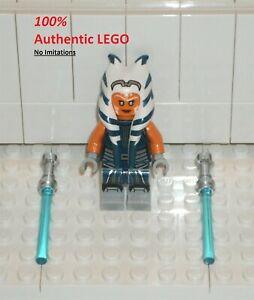 LEGO NEW Authentic Star Wars Ahsoka Tano (1x) + Lightsabers 75283 Minifigure
